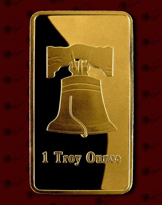 Bells,  1 Troy Ounce,  1 Oz,  Gold Plated Bar,  Clad,  Commemorative photo
