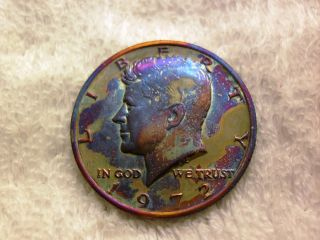 1972 P Kennedy Half Dollar - Toned photo