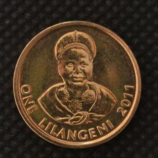 Swaziland 1 Lilangeni 2011.  Km60.  Africa Coin.  Unc.  Kings,  Women photo