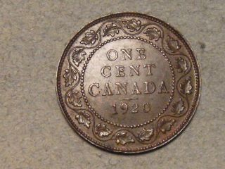 1920 Canadian Large Cent (s,  H To Canada) 2811b photo