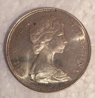 1966 Canada Silver Dollar 1$ Elizabeth Ii D • G • Regina photo
