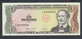 Dominican Republic 1 Peso Oro Unc P.  126,  Banknote,  Uncirculated photo