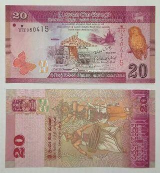 Sri Lanka 20 Rupee 2010 Bank Note - Uncirculated,  - photo