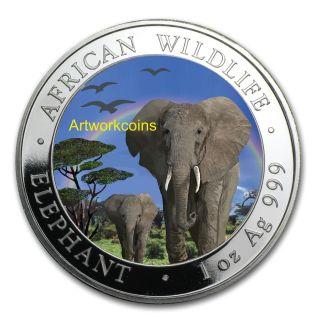2015 1oz Silver African Somalian Elephant Coin,  $$ Collectable Coin $$ photo