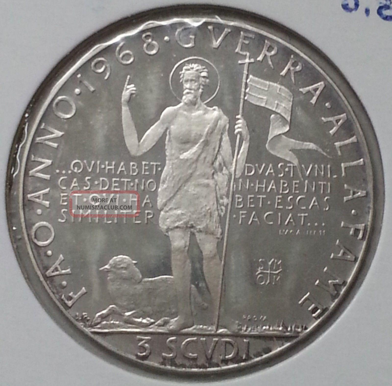 Order Of Malta 3 Scudi 1968 Silver (7) Europe photo