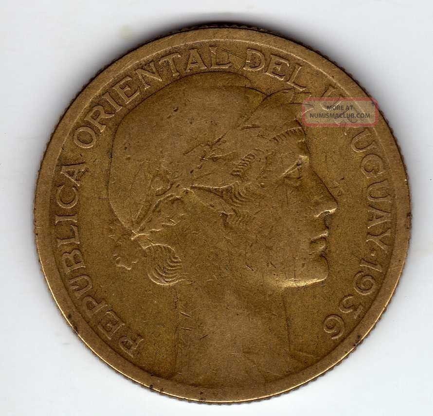 Uruguay 10 Centesimos 1936,  Alum - Bronze South America photo