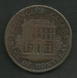 1844 Canada Half Penny Bank Of Montreal Bank Token photo