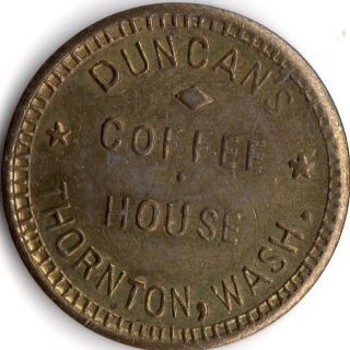 Thornton Washington Merchant Coffee House Good For Trade Token photo