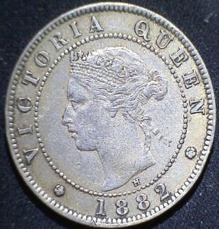 Jamaica 1882h Half Penny Scarce Date Circulated Cleaned? photo