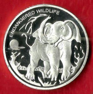 Democratic Republic Of Congo,  Endangered Wildlife,  10 Franc,  Elephant photo