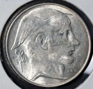 Belgium 1949 20 Francs Km 141.  1 Unc photo