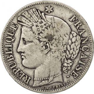 [ 89774] Iième République,  5 Francs Cérès 1850 A,  Paris,  Km 761.  1 photo