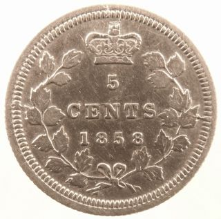 1858 Canada Five Cent Small Date Variety Details photo