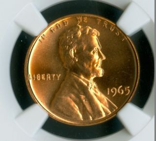 1965 Lincoln Cent Ngc Ms 67 Rd Sms 2nd Finest Grade Spotless. photo
