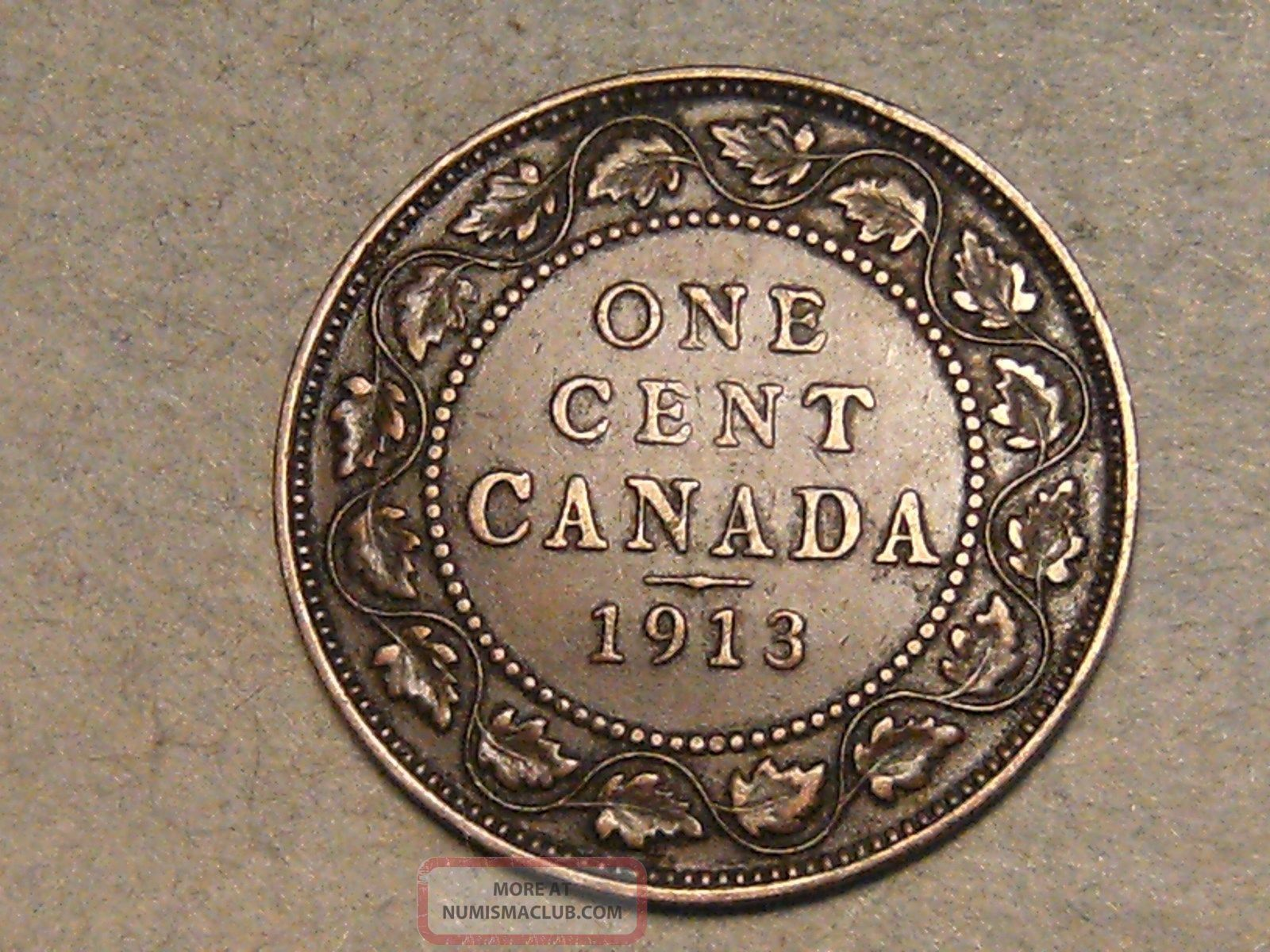 1913 Canadian Large Cent S H To Canada 9674b