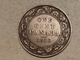 1913 Canadian Large Cent (s,  H To Canada) 9674b photo