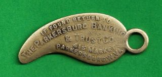 Parkersburg Wv,  Banking & Trust Co.  Key Tag,  415 Market St. ,  Box Number On Back photo