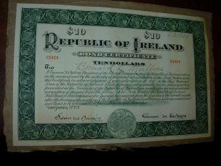 Republic Of Ireland 1920 Gold Bond Certificate photo