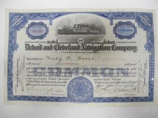 Detroit And Cleveland Navigation Company 1928 Stock Certificate photo