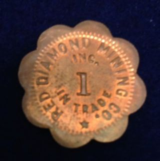 Red Diamond Mining Company One Cent Token/clacker photo