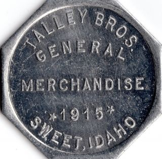 Sweet Idaho 1915 Merchant Store Good For Trade Token photo