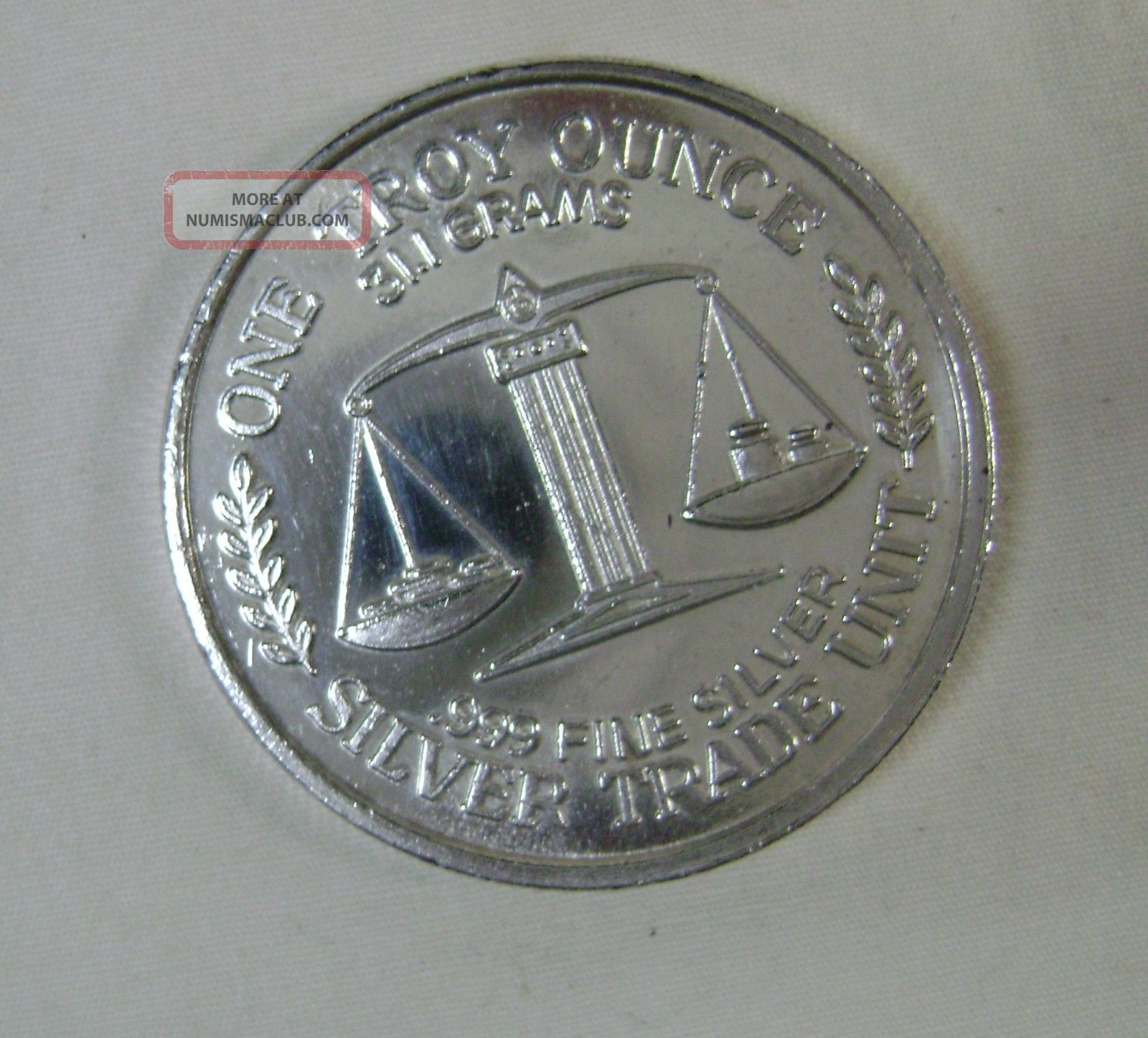 One Troy Ounce 999 Fine Silver Silver Trade Unit Coin 31