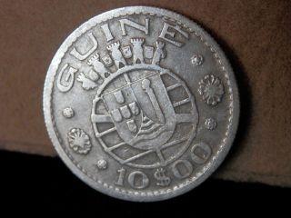 Guinea - Bissau / Portuguese Coin 10 Escudos 1952 Silver photo