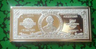 1 Oz $5 Lincoln Silver Certificate Silver/copper Rare photo