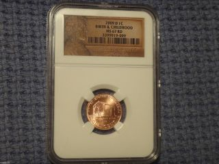 2009 D 1c Lincoln Bicentennial Birth&childhood Ngc Ms67 Low Pop Business Strike photo