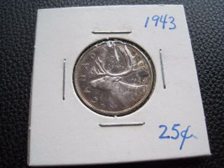 1943 Canada 25 Cents - Great Toning - photo