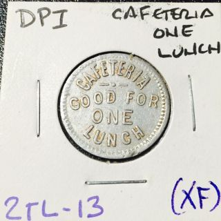 Hawaiian Dpi Cafateria Token 2tl - 13 Xf Cond Rare photo