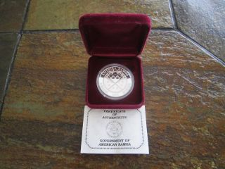 Rare 1988 Samoa Silver $5 Proof In Medal Alignment Km 6.  2 Images photo