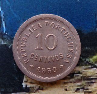 Bn (243a) - Cap Verde - Coin 10 Centavos 1930 Unc Km 2 photo