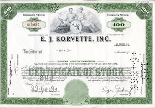 E.  J.  Korvette Inc 100 Shares 1966 U.  S.  Share photo