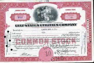 Gulf States Utilities Co 10 Shares 1947 U.  S.  Share photo
