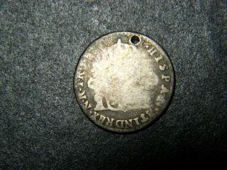 Rare,  Colombia,  1 Real,  1810 Nr,  Bogota.  Nr For Nuevo Reino De Granada photo