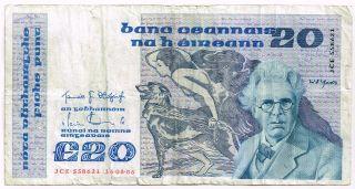 1986 Ireland 20 Pounds Note - P73b photo