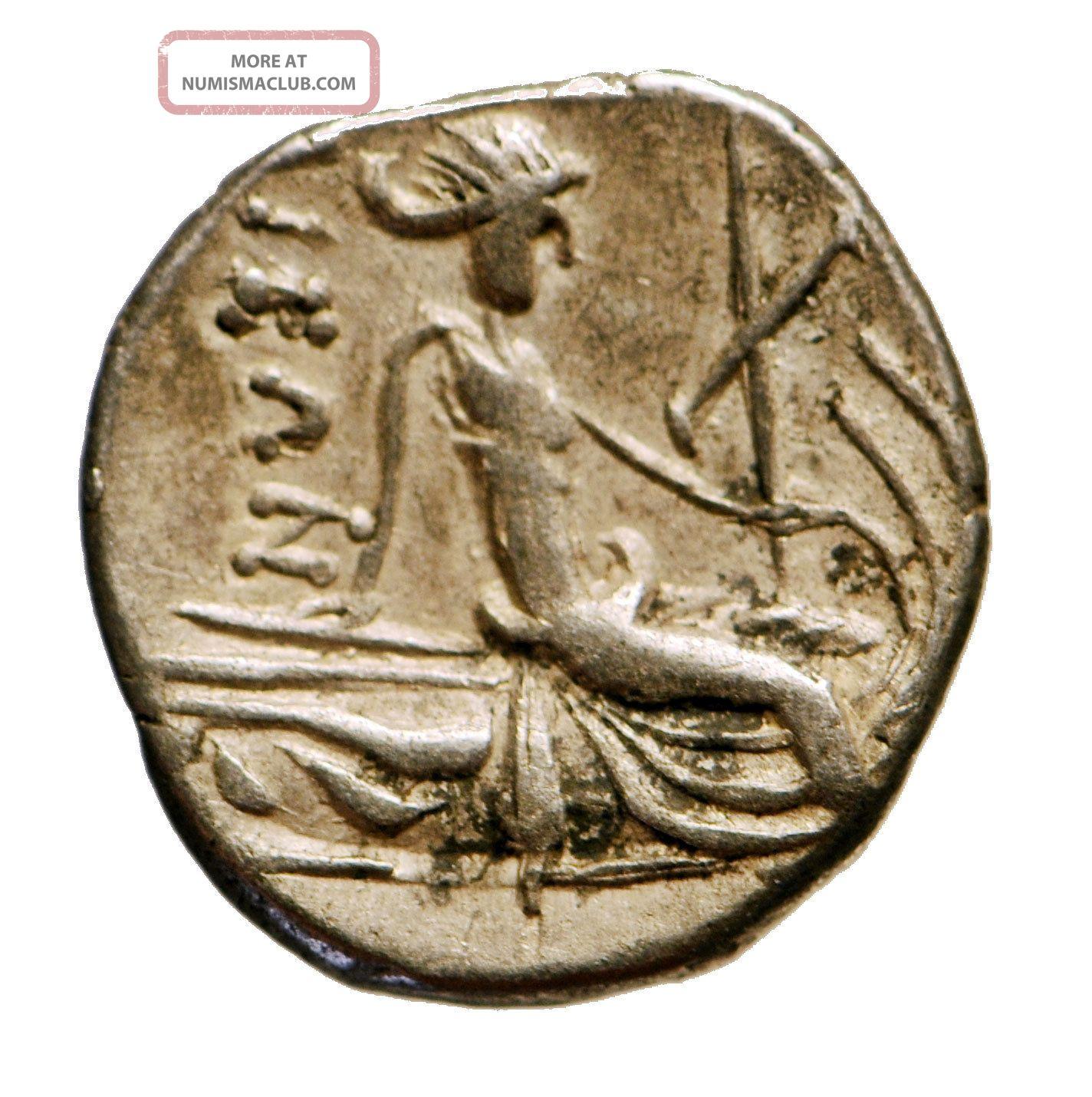 H12: Ancient Greek Silver Coin : Histiaia In Euboia - Tetrobol