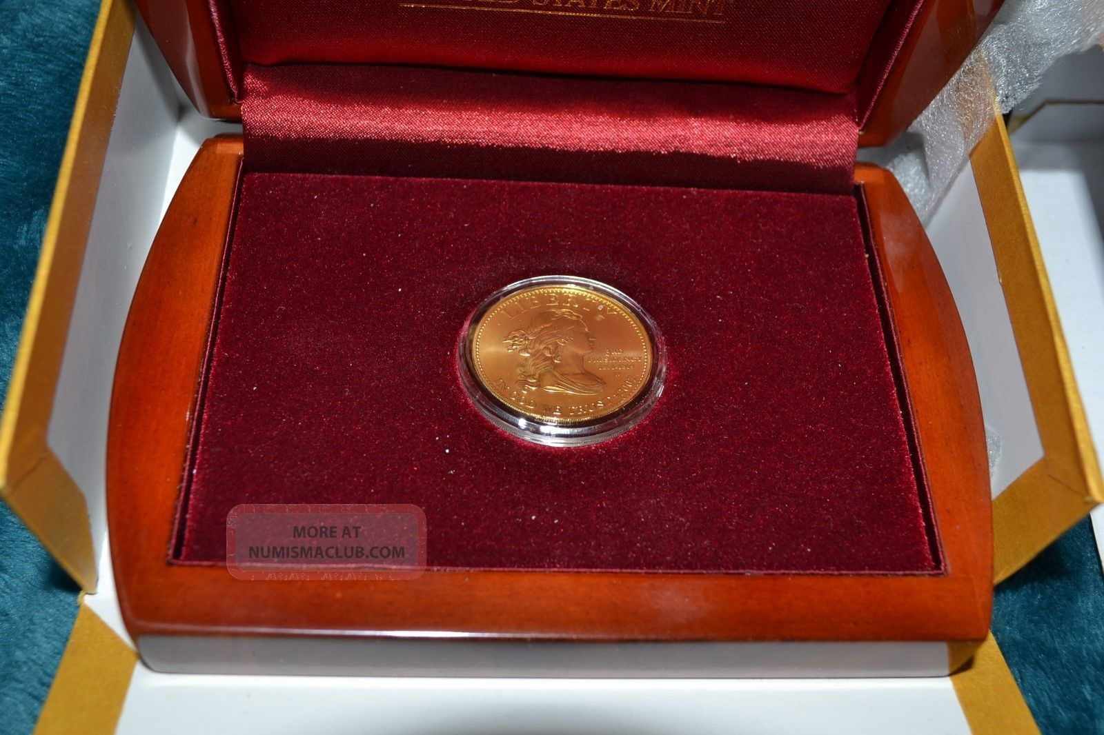 2007 First Spouse Gold Coin 1/2 Oz Jefferson ' S Liberty Unc. Gold photo