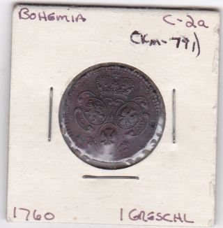 Bohemia 1760 1 Greschl Coin Km - 791 F, photo