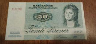 Denmark 50 Kroner Note Crisp Uncirculated photo