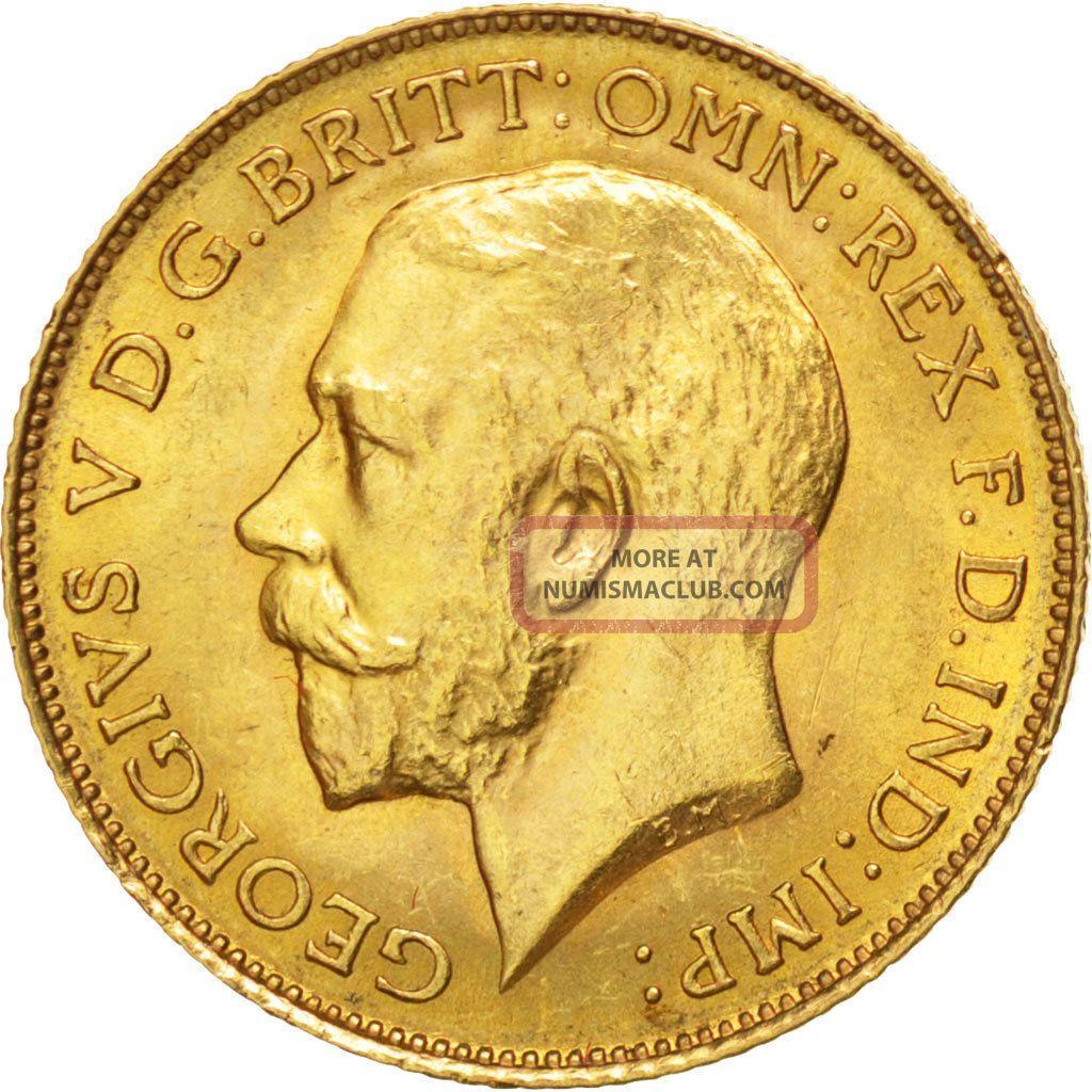 36233 Grande Bretagne George V 1 2 Souverain 1913 Km 819