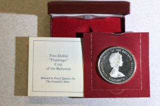 1972 Bahamas Proof.  925 Silver World Crown,  Case, photo