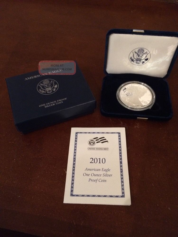 2010 American Eagle One Ounce Silver Proof Coin In Us And