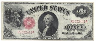 Series 1917 $1 Umited States Note (legal Tender) Xf/au Fr 39 photo