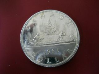 1963 Beauty Canadian Silver Dollar.  80 Coin No Tax photo