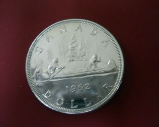 1962 Beauty Canadian Silver Dollar.  80 Coin No Tax photo