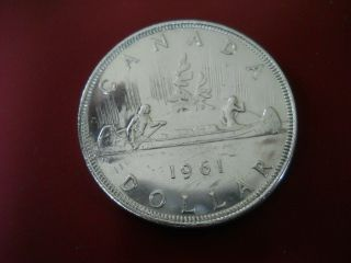1961 Canadian Silver Dollar.  80 Coin No Tax photo