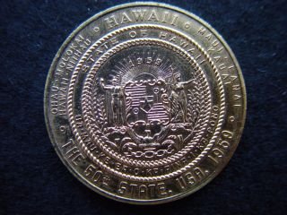 1959 Hawaii Statehood Oahu Error Souvenir Coin Token Medal photo