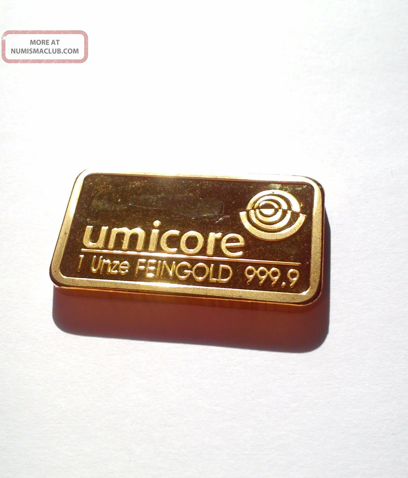 1 oz goldbarren umicore